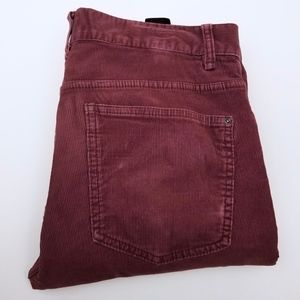 H&M Corduroy Burgundy Jeans Men